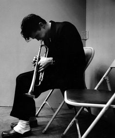 Chet Baker after a Los Angeles recording session (Bob Willoughby)