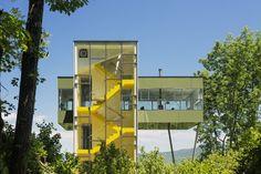 Morar na torre para preservar a natureza Forma da casa leva em conta vegetação ao redor