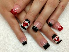 Red white and black