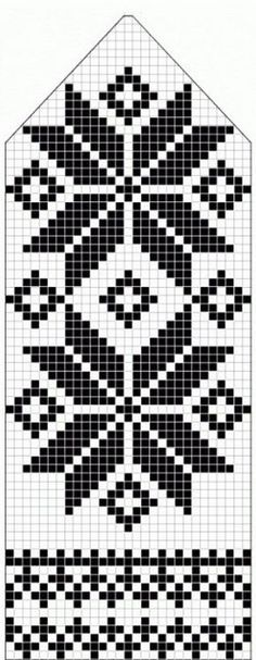 northern star / snowflake motif ~~ knitted mitten pattern ~~ also filet crochet cross stitch Knitting Charts, Knitting Stitches, Knitting Patterns, Crochet Patterns, Loom Knitting, Free Knitting, Knitting Designs, Knitting Projects, Knitting Tutorials