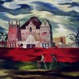"""""""St. Roch-Forgotten"""" painting by John McCrady (depicts St. Roch Shrine and Cemetery in Eighth Ward, New Orleans"""