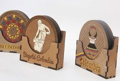 Portavasos en MDF Personalizables Compre en www.regaloscolombianos.com o solicite información a ventas@regaloscolombianos.com Laser Cutter Ideas, Laser Cutter Projects, Wood Carving For Beginners, Ballet Posters, Tea Coaster, Wooden Words, Laser Cut Jewelry, Create Picture, Decoupage Box
