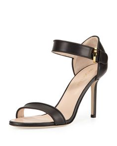 Leather+Closed-Heel+Sandal,+Black+by+Sergio+Rossi+at+Neiman+Marcus.