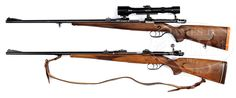 HUNTER'S BRACE OF WALTHER MODEL B BOLT ACTION SPORTING RIFLES.
