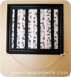 Framed Hair Bow Holder - finally someone is showing me how to make it!