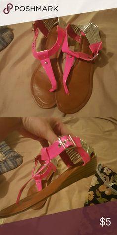 Hot pink sandals Size 8 diva lounge sandals Shoes Sandals