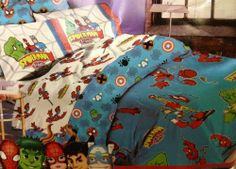 "Spiderman and Friends Twin Comforter - Marvel Superheroes by Marvel. $49.99. 55% cotton / 45% polyester. Ages 3+. Limited Edition. Measures 66"" X 86"". Designs feature Spider Man, the Incredible Hulk, and more. Let your kids live the adventure of Marvel comics every night with this Spiderman and Friends Twin Comforter featuring Spiderman, the Incredible Hulk, Captain America and more......."