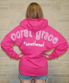 Adult Hooded Fuchsia Coral Grace Boyfriend Jersey