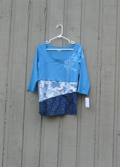 Women's Large Altered Upcycled Royal Robbins Tee /ooak by upCdooZ, $46.00