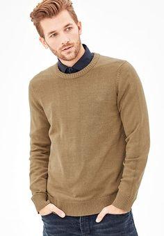 Kleding s.Oliver RED LABEL Trui - cotton melange camel: € 39,99 Bij Zalando (op 23-9-17). Gratis bezorging & retour, snelle levering en veilig betalen! Stylish Mens Outfits, Stylish Clothes, Men Sweater, Turtle Neck, Long Sleeve, Sleeves, Sweaters, Mens Tops, T Shirt