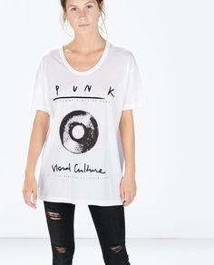 ZARA - WOMAN - テキストTシャツ