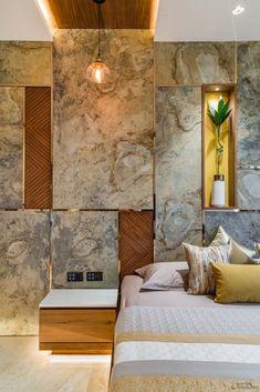 Bedroom Furniture Design, Modern Bedroom Design, Home Room Design, Master Bedroom Design, House Design, Wall Cladding Interior, Wall Cladding Designs, Apartment Interior, Luxurious Bedrooms