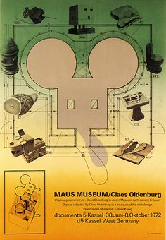 Here is a FANTASTIC vintage poster from CLAES OLDENBURG / MAUS MUSEUM….1972….