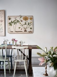 design attractor: Bohemian Chic Apartment with a Botanical Decor