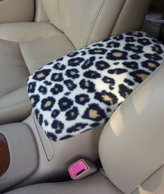Center Console Cover CHEETAH or ZEBRA Print for Nissan Maxima 2008 to 2012 CC17 Lid Cover