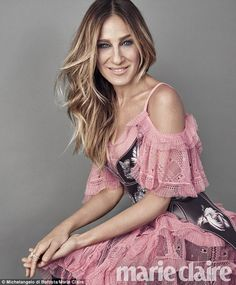 Pretty in pink:Sarah Jessica Parker dished about on Divorce, her new HBO show in which she stars and produces, when she covered September's issue of Marie Clairedue out August 16