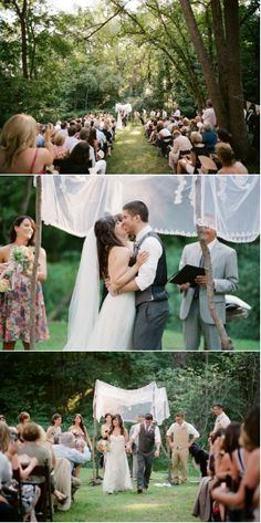 Wedding Ideas Set in the Outdoors - Forest Retreat | Mine Forever