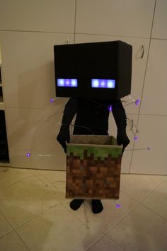 Glowing Enderman Costume - full instruction!  http://www.reddit.com/r/Minecraft/comments/12gavx/glowing_enderman_costume_as_requested_by_our_7yr/