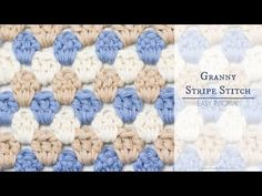 The Granny Stripe Stitch This crochet pattern / tutorial is available for free. Full post: The Granny Stripe Stitch Crochet Stitches For Beginners, Crochet Stitches Patterns, Crochet Videos, Crochet Designs, Stitch Patterns, Knitting Patterns, Rug Patterns, Granny Stripe Crochet, Single Crochet Stitch