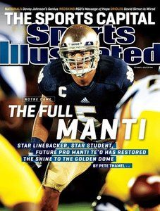 Manti Te'o makes Sports Illustrated cover!!!! We have this framed and on the wall!