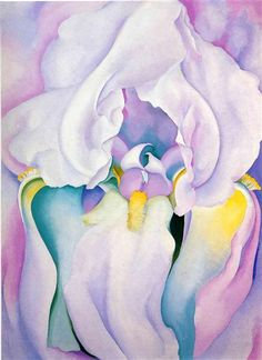 Light of Iris, 1924 by Georgia O'Keeffe. Precisionism. flower painting