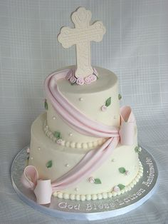 First Communion Cake by springlakecake, via Flickr could use for confirmation.  Would have been nice for baptism.
