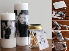 Another homemade Christmas idea - Personalised Candles DIY