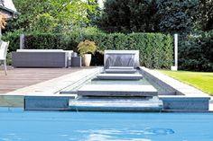 Stilvolles Fertigschwimmbecken entspannt Körper und Seele
