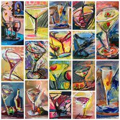 JanettMarie's Little Paintings: Happy October!! Booooo....Screech...