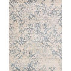 Shop for Kensington Blue/Cream Floral Area Rug (9' x 12'). Get free shipping at Overstock.com - Your Online Home Decor Outlet Store! Get 5% in rewards with Club O! - 24241543