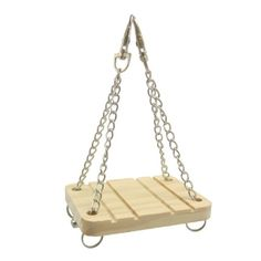 Alfie Pet Small Animal Playground - Karo Wooden Swing (Toy for Mouse and Dwarf Hamster) - http://dribblypoo.com/small-animals/alfie-pet-small-animal-playground-karo-wooden-swing-toy-for-mouse-and-dwarf-hamster