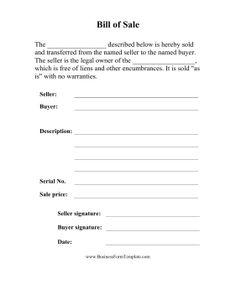 Free Printable Bill Of Sale | Basic Bill Of Sale Template Printable Blank Form Microsoft Word