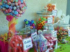 Little Sweetie. And I have a HUGE sweet tooth! 1st Birthday Parties, 2nd Birthday, Birthday Ideas, Shower Party, Baby Shower Parties, Candy Table Decorations, Baby Shower Photos, Baby Sprinkle, Candy Party