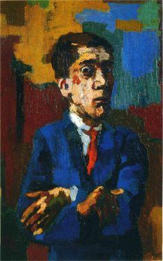 Self Portrait with Crossed Arms - Oskar Kokoschka