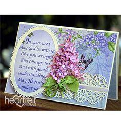 Heartfelt Creations - Serene Lilac Spray Project