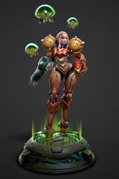 Trevor Carr, an artist at Riot, has been working on this version of Metroid's Samus Aran for a while now. Metroid Samus, Samus Aran, Metroid Prime, League Of Legends, 3d Character, Character Design, Character Modeling, Video Game Artist, Zero Suit Samus