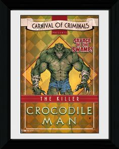 92 best the crocodile peter pan images on pinterest fabric batman circus crocodile man big framed collector print altavistaventures Images