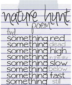 Nature Walk and Poetry