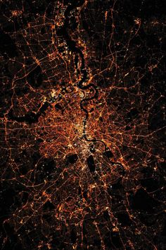 London at Night    The British city of London seen at night; photographed by an Expedition 30 crew member from the International Space Station
