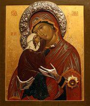 Icon of St. Anna returning to Orthodox Monastery of the Transfiguration Saint A, The Transfiguration, Orthodox Icons, Catholic, Mona Lisa, Anna, Christian, Artwork, Painting