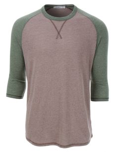 omniscient Mens Casual Slim Fit Soft Color Block Short Sleeve Comfort Henley T-Shirt Tee