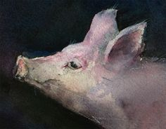 John Lovett's cute pig yet another reason I don't eat meat. pigs are smart and adorable.