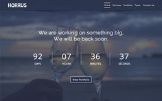 Horrus - Coming Soon Template on Behance