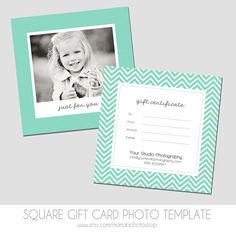 Photographer photography gift certificate template gift square gift certificate template 5x5 by mariabphotoshop on etsy 700 yadclub Images