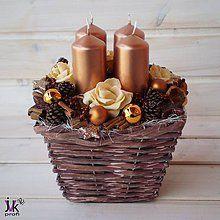 Dekorácie - Vánoční svícen Camila - 5994911_