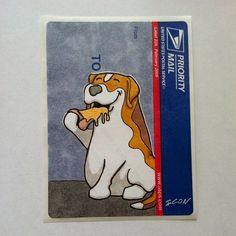 Beagle on a Blue Top.