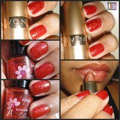 Esmalte e Batom. Lipstick and Nail Polish