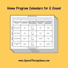 Home Program Calendars for G Sound