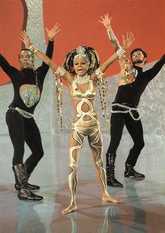 Diana Ross, 1970s  [dancer on left emulating jazz dance great, Luigi]
