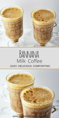 Banana Milk Coffee is the go to hot drink this Autumn/Winter. This delicious recipe is easy, comforting and super delicious, you will LOVE it! Informations About Banana Milk Coffee Pin You can easily Banana Coffee, Coffee Mix, Banana Milk, Hot Coffee, Iced Coffee, Coffee Almond Milk, Coffee Cake, Coffe Drinks, Coffee Banana Smoothie
